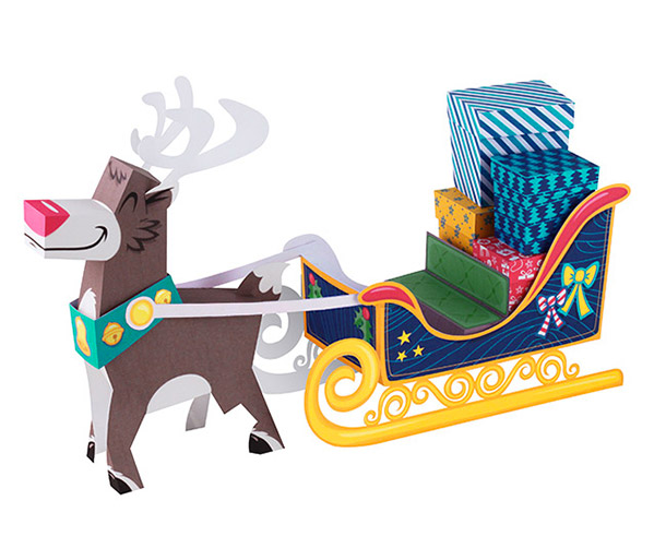 traineau_renne_sledge_deer_papertoy_tougui_sncf