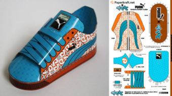 Sneakers Puma en papier (x 2)