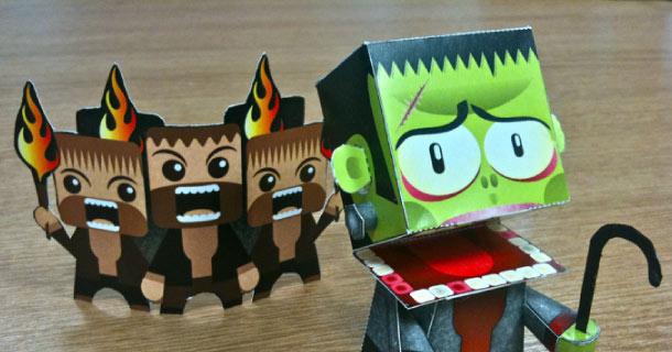 Photo paper toy Frankenstein
