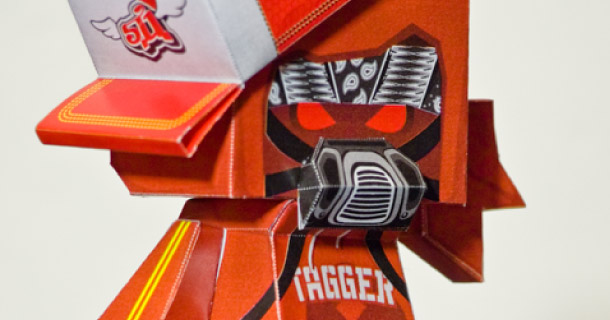 Paper toy T-Ninja Salazad