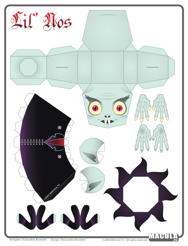Blog Paper Toy papertoy Nosferatu template preview Nosferatu le vampire by Macula.tv