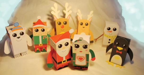 Christmas papertoys de Samantha Eynon
